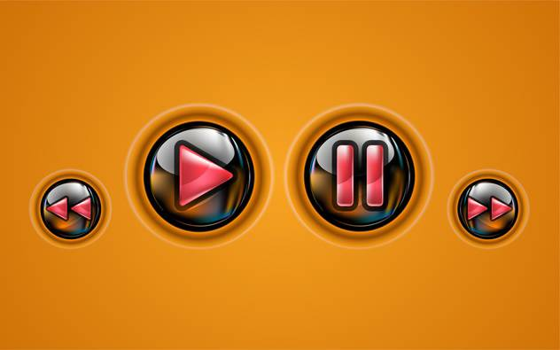 Control panel of media player - Free vector #130949