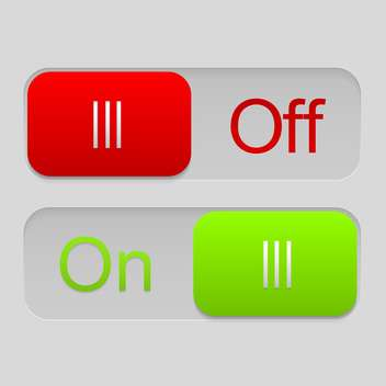 On and off sliders vector illustration - Free vector #130959