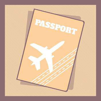 Retro style passport cover vector illustration - Free vector #131019