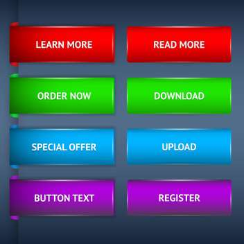 Web site design template navigation elements with icons set - Free vector #131049