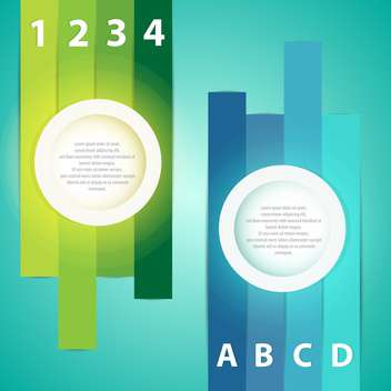 Colorful presentations with letters and numbers - vector gratuit #131079