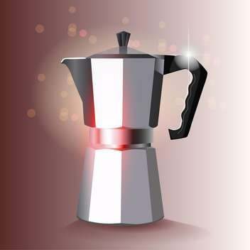 Vector cofee maker illustration on bokeh background - vector gratuit #131119