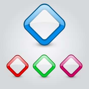 Vector color web buttons set - vector gratuit #131169