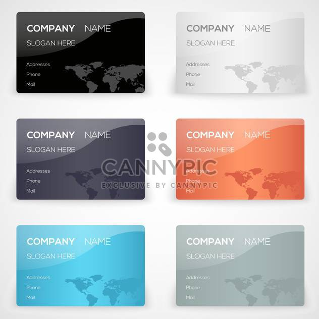 Vector set with business cards - Free vector #131189