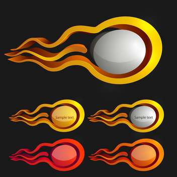 Fire icons vector set - Kostenloses vector #131199