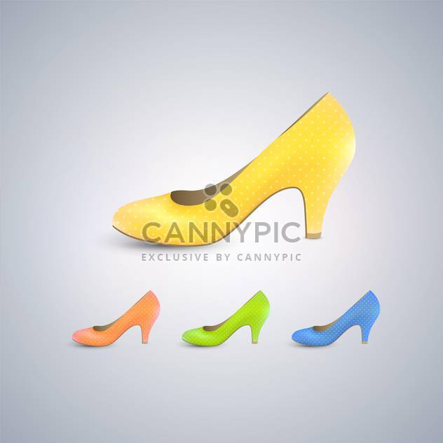 Elegant women's shoes collection - Free vector #131299