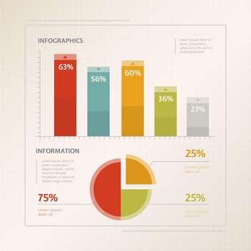 Detail infographic vector illustration - vector gratuit #131309