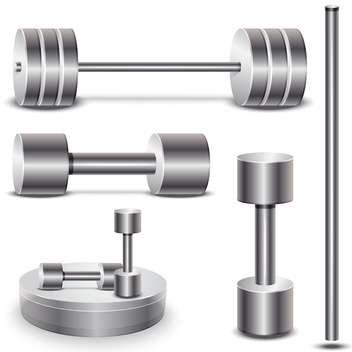 set of weights vector illustration on white background - vector gratuit #131359