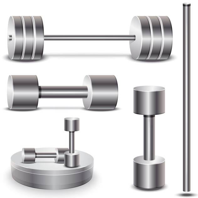 set of weights vector illustration on white background - vector #131359 gratis