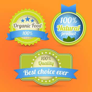 Vector eco stamps and labels eco style - Free vector #131419