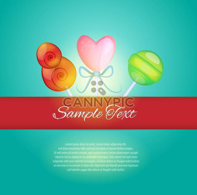 Sweet card vector illustration - Free vector #131439