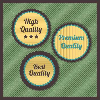 Collection of premium quality labels with retro vintage styled design - vector gratuit #131519
