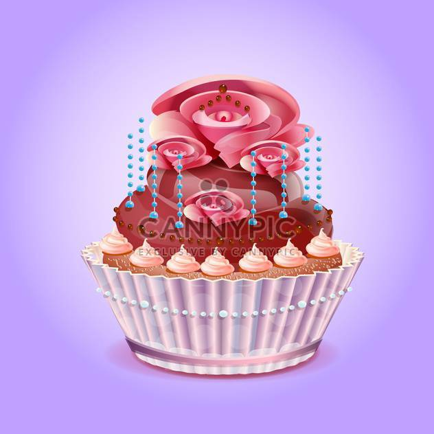 Cute And Tasty Birthday Cake Illustration