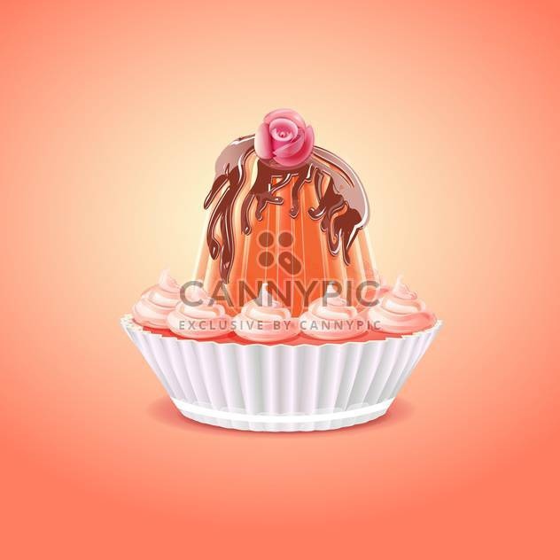 Cute and tasty birthday cake illustration - Free vector #131549