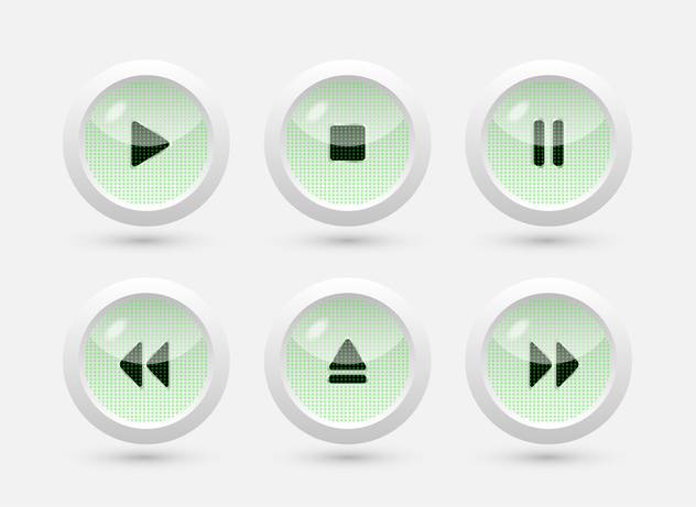 Multimedia buttons vector interface - бесплатный vector #131599