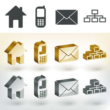 Vector communication web icons - vector #131609 gratis