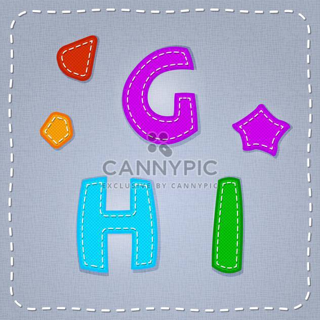 Vector colorful font on grey background - Free vector #131639