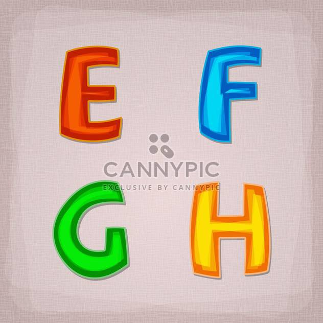 Vector colorful font letters set - Free vector #131689
