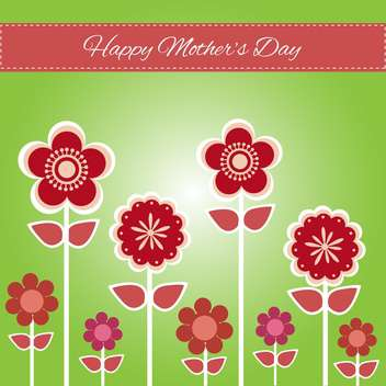 Happy mother day background vector illustration - vector #131729 gratis