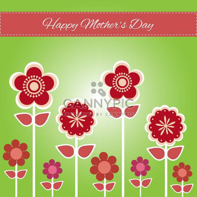 Happy mother day background vector illustration - Free vector #131729