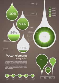 Vector infographic elements illustration - vector #131739 gratis