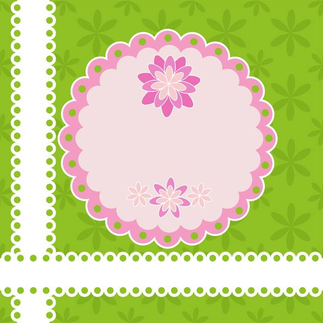 Greeting card with flowers and lace vector illustration - vector #131769 gratis