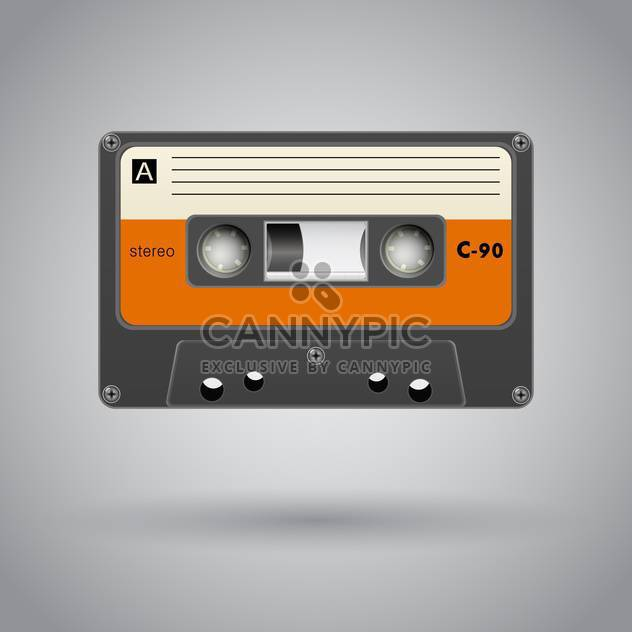 Audio cassette on grey background vector illustration - Free vector #131789