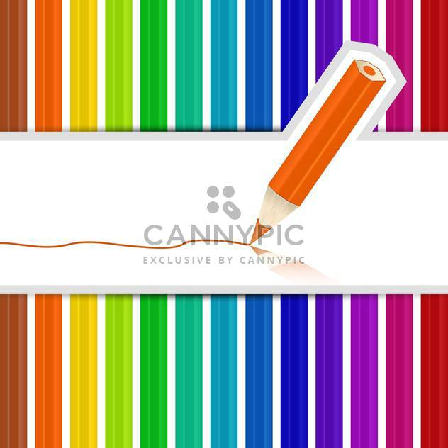 Background with colored pencils vector illustration - Free vector #131849