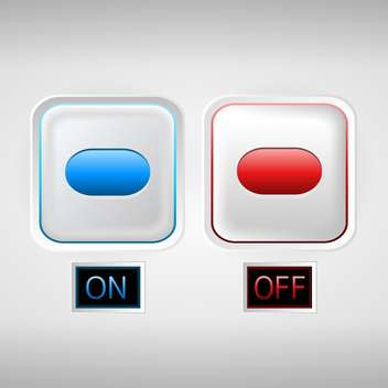 On and Off white sliders on white background - vector #131869 gratis