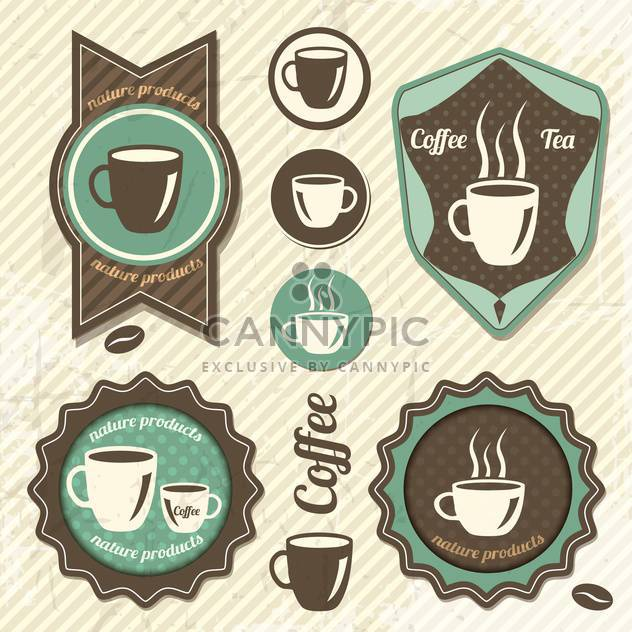 Set Of Vintage Retro Coffee stamp - Free vector #131879