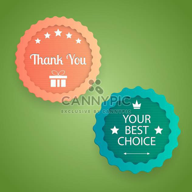 Vintage style vector labels on green background - Free vector #131969