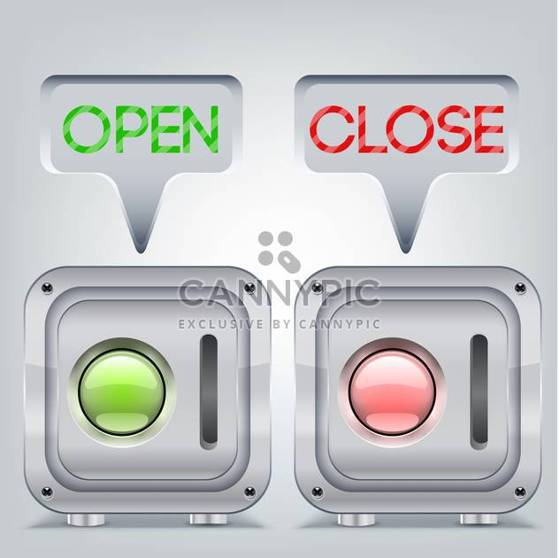 Buttons in open and close state - Free vector #132039