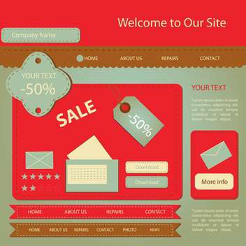 Web site design template vector illustration - vector gratuit #132059