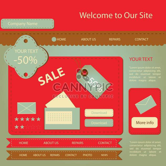 Illustration vectorielle de site Web design template - vector gratuit #132059