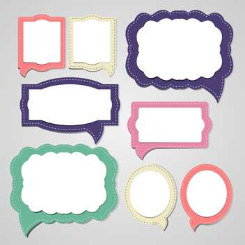 Vector set of speech and thought bubbles - vector gratuit #132119