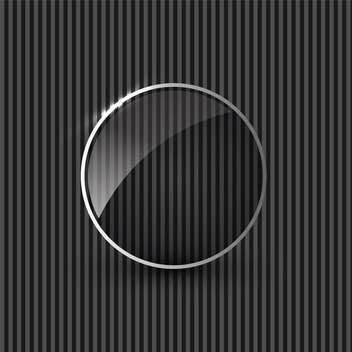 Transparent glass button on striped seamless background - vector #132129 gratis