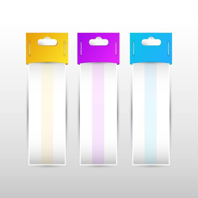 Set of yellow,purple,blue vector labels ,vector illustration - vector gratuit #132229