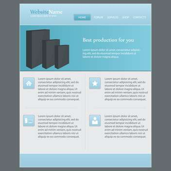 Web site design template, vector illustration - vector gratuit #132319