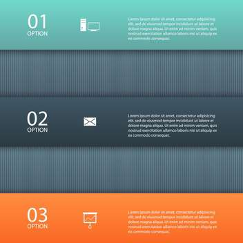 Vector progress design template with three steps - vector gratuit #132329