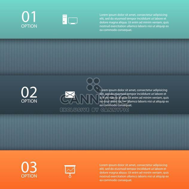 Vector progress design template with three steps - Free vector #132329