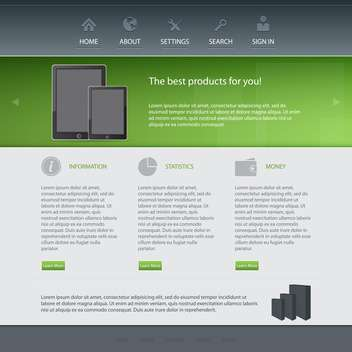 Web site design template, vector illustration - vector gratuit #132339