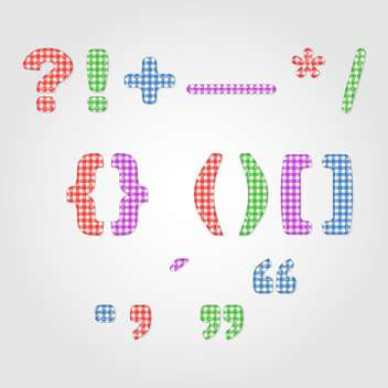 old fashioned colorful punctuation marks,vector illustration - vector #132349 gratis