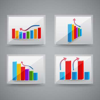 Colorful success graphics,vector Illustration - Free vector #132439
