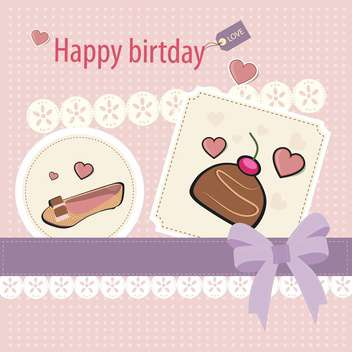 Retro birthday scrapbook set vector illustration - Free vector #132459