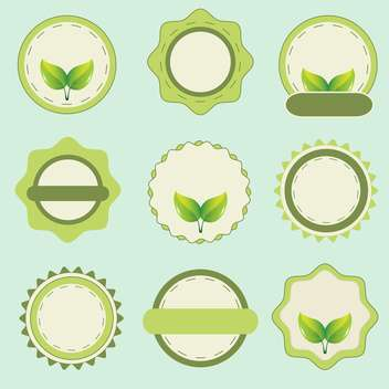 Eco labels with retro vintage design - vector gratuit #132469