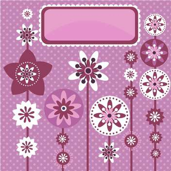 vector summer floral background - vector gratuit #132489