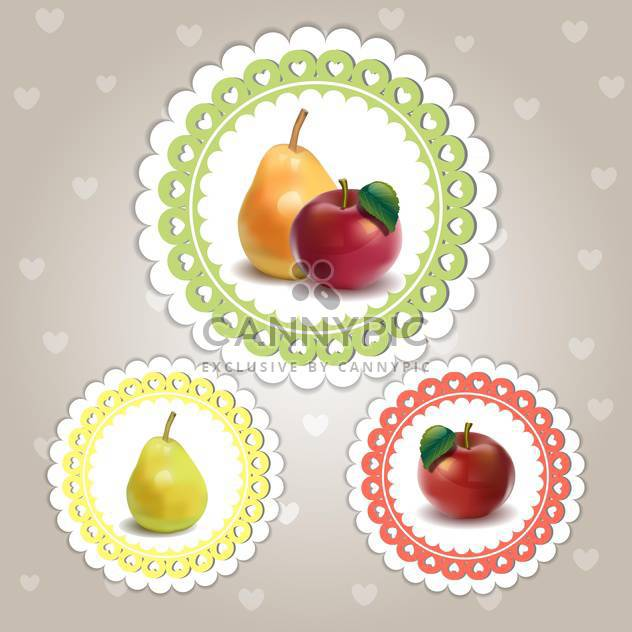 colorful set of fruits frames - Free vector #132519
