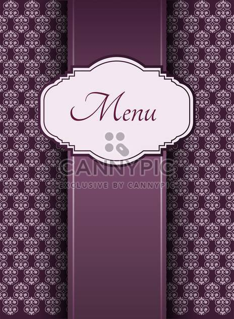 vintage graphic menu background - Free vector #132539