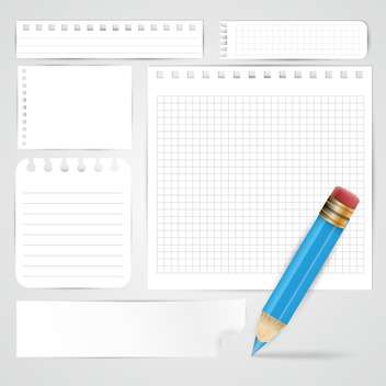 pencil and paper sheets background - vector gratuit #132589