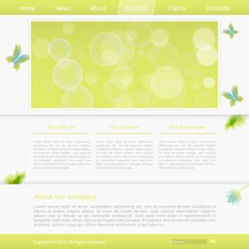 abstract website template background - vector #132619 gratis